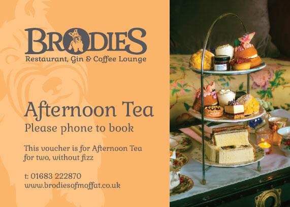 Brodies Afternoon Tea for 2 Voucher