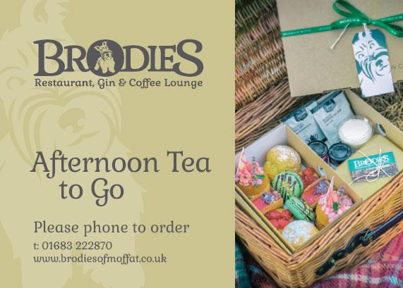 Brodies Afternoon Tea to Go Voucher